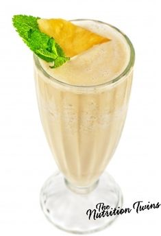 Pine-ana Reboot Smoothie | Delicious! | Only 115 Calories | Recharge Energy & Balance Fluid to Beat Bloat! |For MORE RECIPES please SIGN UP for our FREE NEWSLETTER www.NutritionTwins.com