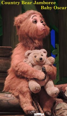 """Baby Oscar is the son of Zeb, the fiddle player in """"The Five Bear Rugs"""" Band at the Country Bear Jamboree in the Magic Kingdom. Disney World Rides, Disney Parks, Disney Pixar, Walt Disney, Disney Dream, Disney Love, Disney Magic, Disney World Vacation Planning, Disney Vacations"""