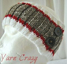 Sock Monkey Ribbed Knitted Ear Warmer Looking for your next project? You're going to love Sock Monkey Ribbed Knitted Ear Warmer by designer Loom Knitting, Knitting Patterns Free, Free Knitting, Crochet Patterns, Headband Pattern, Knitted Headband, Knitted Hats, Sock Monkey Crafts, Yarn Crafts