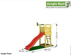 The original Jungle Gym wooden playground equipment. Most complete and safe climbing frames for kids. Backyard Gym, Backyard Playground, Pine Timber, Kids Slide, Sand Pit, Jungle Gym, Garden Toys, Small Gardens, Climbing Frames