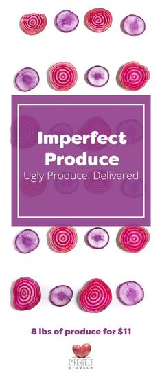 Did you know that 1 in 5 pieces of produce end up being wasted because they're not pretty enough? This perfectly healthy, delicious produce is rejected by grocery stores because of its cosmetic quirks--its too big, too small, or oddly shaped. Enter Imperf