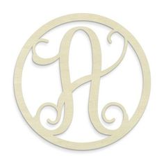 Unfinished Wood Co. Single Letter Circle Monogram Hanging Initial Letter: A