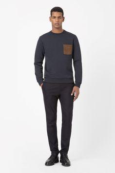 Suede pocket sweatshirt