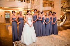 Bridesmaids dresses - something about these dresses and the color is just gorgeous, I think... @Shannon Richner???