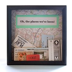 Travel-themed shadow box for loose tickets ($30). | 21 Things Every Traveler Wishes They Owned