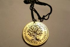 The Coin Series : The Tree of Life - old RSA cent Coin by Kallie Tree Of Life, Washer Necklace, Pretty, Pretoria, Jewelry, Design, Store, Plants, Schmuck