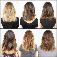 Layered Haircut Typen für mittelgroße Haar