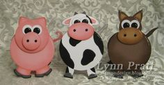 Barn Box with Cow, Pig & Horse Cards | Stamp-n-Design Store