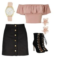 """""""night out!"""" by courttneyy on Polyvore featuring Miss Selfridge, NAKAMOL and Nine West"""