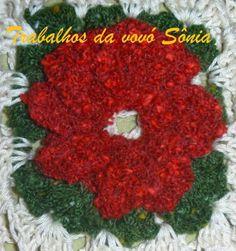 Trabalhos da vovó Sônia: Flor catavento - outras cores - croché