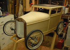 Beautifully made all wood SoapBox Car