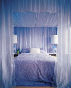 diy bed canopy | Simply breathtaking...for a way dramatic look... Looks fantastic!