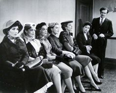 Valerie French, Ursula Howells, Jill Adams, Roma Dumville, Kay Kendall, Nicole Maurey and George Cole. The Constant Husband. 1955