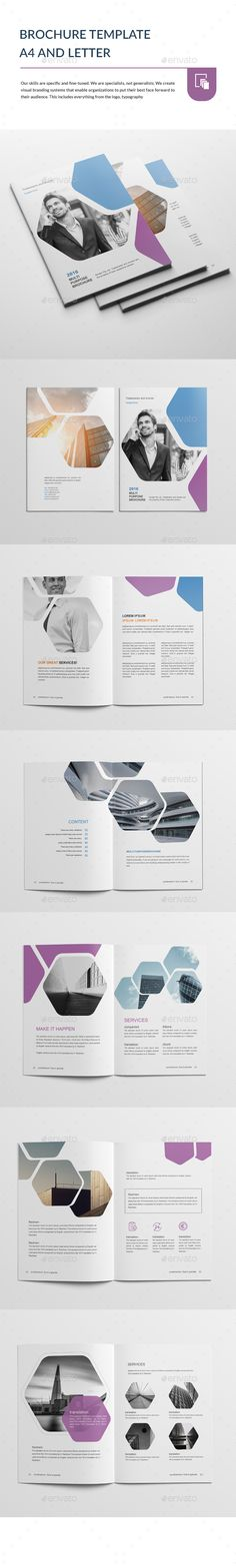 Brochure Template A4 and Letter  — PSD Template #format #indesign • Download ➝…