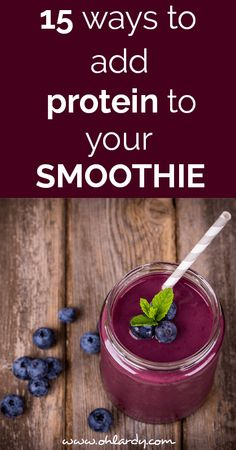 My husband is training for his third marathon and now that he is getting in to his routine, he is looking for ways to consume protein during his recovery. Breakfast Smoothies, Healthy Smoothies, Healthy Drinks, Healthy Snacks, Healthy Eating, Healthy Recipes, Gf Recipes, Healthy Protein, Juice Smoothie