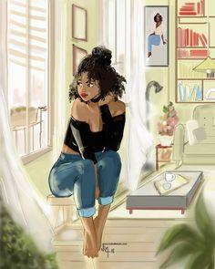 Nicholle Kobi — Betsy need her solitude moment in her happy place. Black Love Art, Black Girl Art, My Black Is Beautiful, Black Girls Rock, Black Girl Magic, Art Girl, African American Art, African Art, Black Art Pictures