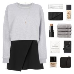 """hold my hand"" by kiiaa ❤ liked on Polyvore featuring Monki, Maison Margiela, NARS Cosmetics, Christy, Forever 21, Dogeared, Butter London and Acne Studios"