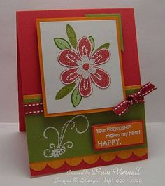 Sunday Evening Stamping using Stampin Up Friendship Blooms