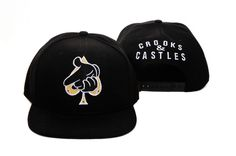 New Era Crooks And Castles Snapbacks Hats Caps Black 0116! Only $8.90USD