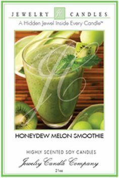 NEW Honeydew Melon Smoothie Jewelry Candle w/Ring, Necklace, Earrings Bracelet @eBay #jewelrycandles #ebay @JewelryCandles.com.com.com