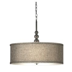House of Hampton 3 Light Drum Pendant Finish / Shade: Oil Rubbed Bronze / Bronze Gold Metallic Shade 3 Light Pendant, Drum Pendant, Drum Chandelier, Pendant Lighting, Drum Lighting, Laundry Room Lighting, Kitchen Lighting, Flush Ceiling Lights, Contemporary Pendant Lights