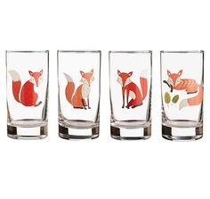Paper Source- Fox Glasses -$20 for set of 4