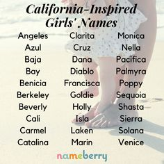 California-inspired baby girl names babynamen finden namen 2020 namen französisch namen meisje uniek namen nederlandse namen verraten names hispanic names ideas names trend names unique names vowel Cute Girl Names, Unique Baby Names, Baby Girl Names, Boy Names, Unusual Girl Names, Baby Boys, Name Inspiration, Writing Inspiration, Hispanic Baby Names