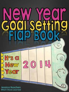 New Year Goal Setting Flap Book - perfect for the first week back from the holiday break