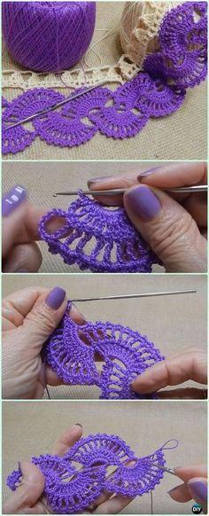 Crochet Fan Stitch Tape Border Free Pattern Video - Crochet Tape Free Patterns