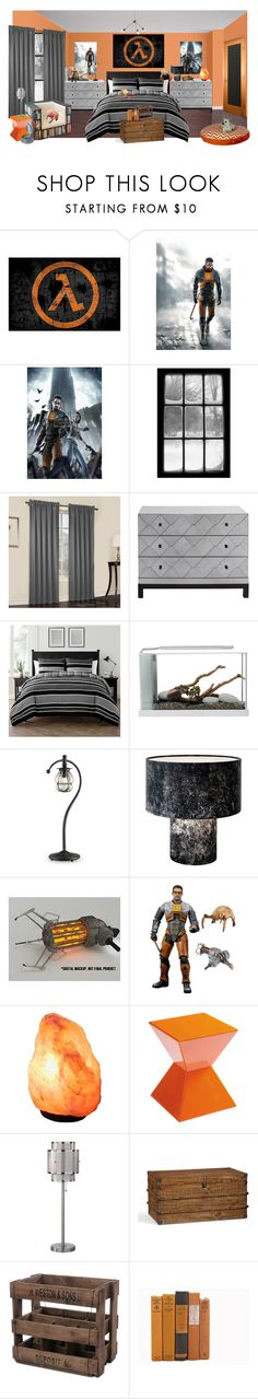 """half-life"" by sterlingkitten on Polyvore featuring interior, interiors, interior design, home, home decor, interior decorating, Sun Zero, Brownstone, VCNY and Currey & Company"