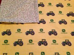 Large Swaddle Blanket, John Deer, Big Green Tractor, Yellow, Green, Brown, Polka Dots, Large Baby Receiving Blanket, Baby Shower Gift on Etsy, $18.50