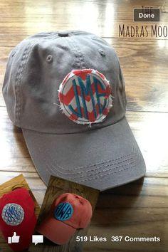 Monogram baseball cap- beach time!