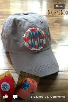Monogram baseball cap- beach time!