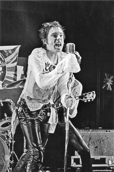 Johnny Rotten, the Marquee Club, Soho, London, 1977 by Dennis Morris