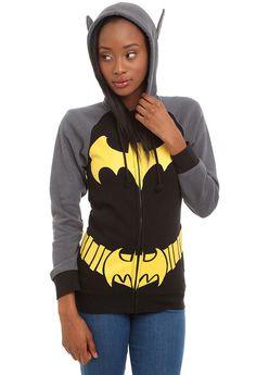 """Sudadera """"I am Batman"""" con orejitas de murciélago para chicas"""