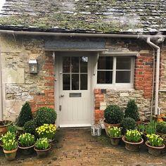 1869 Likes 50 Comments Charlotte-Anne Fidler ( on Inst Cottage Front Doors, Cottage Door, Cottage Exterior, Garden Cottage, Cottage Homes, Backyard Planters, Patio, French Cottage, Cottage Style