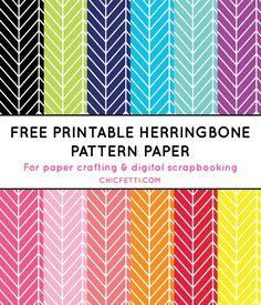 Free Printable Herringbone Paper from @chicfetti #freeprintable