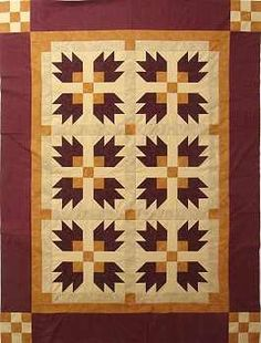 bear paw quilt pattern - Google Search