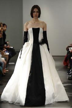 Bridal Fashion Week: Vera Wang's Surprisingly Chic Black and White Wedding Dresses | StyleCaster