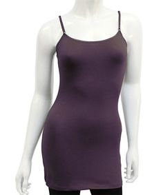 Look at this #zulilyfind! Dark Purple Long Camisole #zulilyfinds