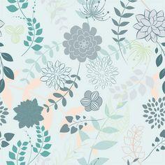 Floral Melange (Blue) Shelf Paper