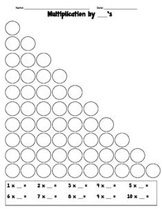 Free Multiplication Circles worksheets - Equal Groups