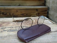 Vintage Shuron Round Windsor Style Gold Filled Eyeglasses | Harry Potter Glasses | John Lennon Glasses | Stage Props | Round Eyeglasses by Rue88Market on Etsy