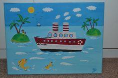 #picture #steamship #parník #pictureforkids