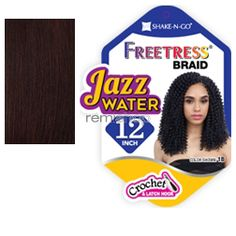 """Freetress Jazz Water 12"""" - Color 99J - Synthetic Braiding"""