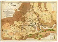 John Snow's Cholera Map.