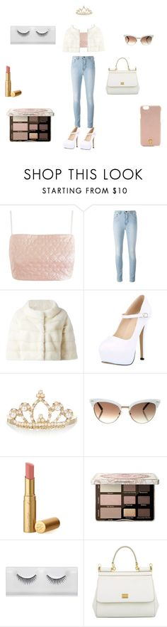 """""""You seem surprised to see us"""" by littlemiss104 ❤ liked on Polyvore featuring Lashes of London, Liska, Accessorize, Gucci, Too Faced Cosmetics, Dolce&Gabbana and Tory Burch"""