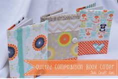 Riley Blake Designs -- Cutting Corners: Quilted Composition Book Cover