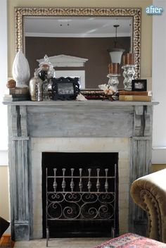 love this fireplace makeover