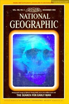 National Geographic Vol. 5 - November Issue with a laser hologram on the cover. National Geographic Cover, National Geographic Photography, Holography, The 5th Of November, Map, Books, Amnesia, Magazines, Design Inspiration